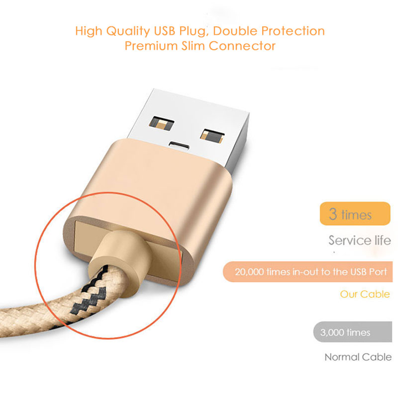 Cable micro USB SUPTEC, cable de cargador de teléfono móvil con - Accesorios y repuestos para celulares - foto 3