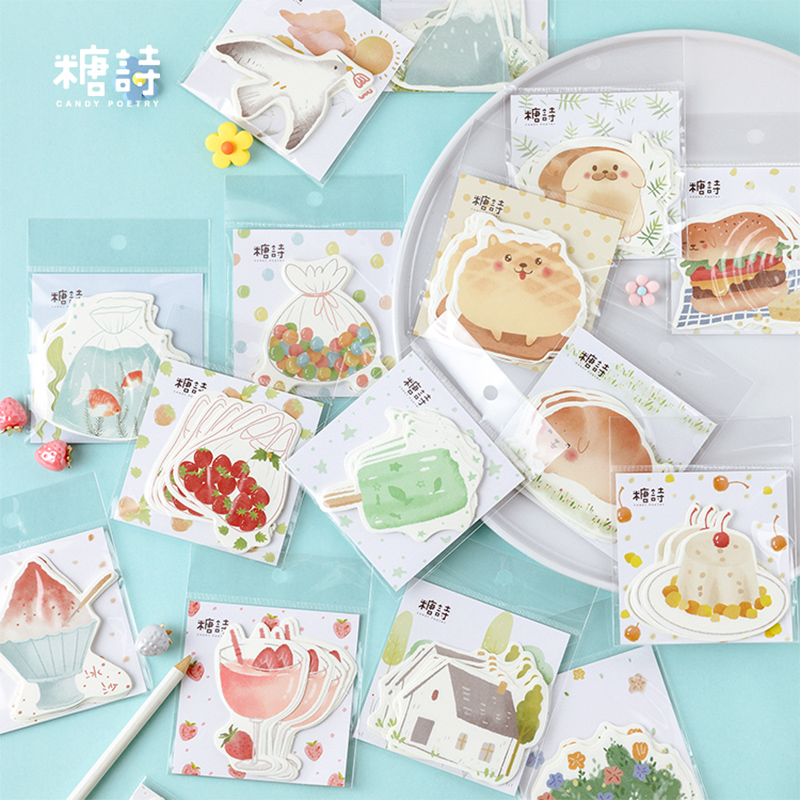 New Summer Dessert Decoration Memo Pad Sticky Notes Paper Sticker Notepad Kawaii Stationery Pepalaria Office