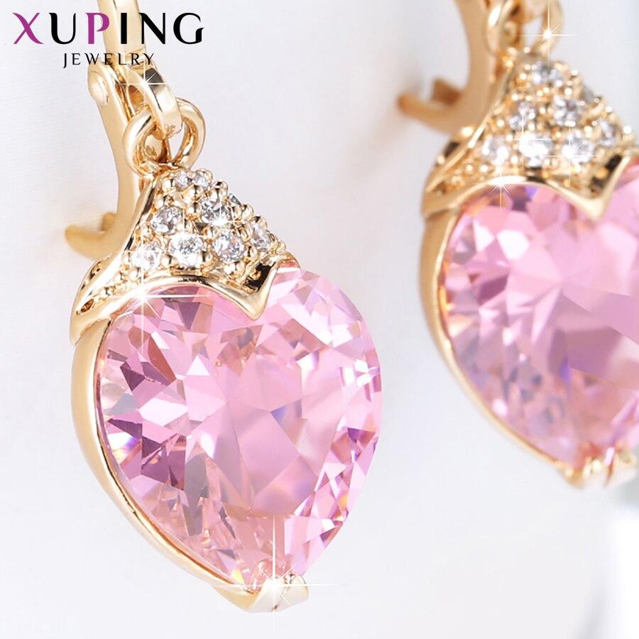 Xuping Mode Luxus Ohrringe für Frauen Synthetische Zirkonia Eardrops Schmuck Valentinstag Geschenk S53-27656