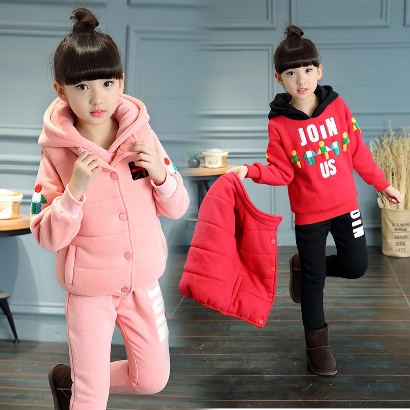 Russian Winter Girls Clothing Sets Winter 3-12T Cotton Jacket+Trousers Suits Thicken 3Pieces Sets Warm Kids Clothes Suit Fashion russian phrase book