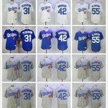 cc9e7167a Majestic hombres de Los Angeles Dodgers Cody Bellinger Jackie Robinson Joe  Blanton Joc Pederson camisetas(