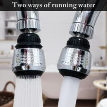 Zinc Alloy Shell 360 Degree Rotate Water Filter Faucet Nozzle Swivel Water Saving Tap Aerator Faucet Nozzle Filter Water Bubbler(China)