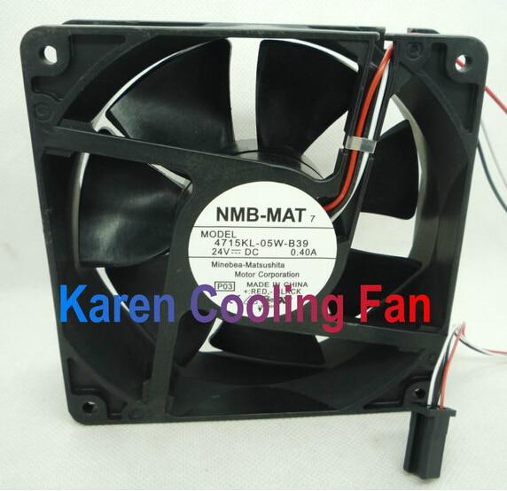 NMB 4715KL-05W-B39 Fan 24V 0.4A 120*120*38mm 3pin