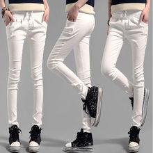 #1603 Negro/Blanco pantalones 2017 Primavera verano Delgado Pantalon femme Pantalon mujer Flaco Lápiz pantalones harén Delgadas Ocasionales pantalones