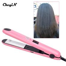 CkeyiN 220-240V Mini Hair Iron Corn Plate Electronic Perm Hair Curling Iron Hair Ripple Styling Corrugation HS38F