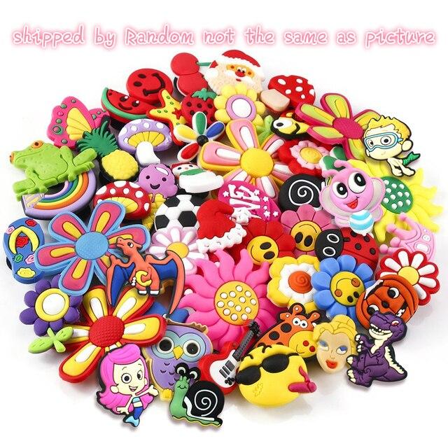 5e09f02a1af51 20 Pcs PVC Different Shoe accessories Shoe Charms Shoe Decorations for Croc  Bracelet Wristband Kid Gift