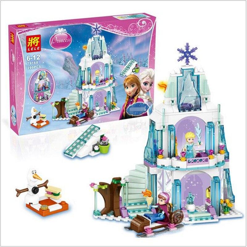 Anna olaf princess set building brick block minifigure girls toy 6 pcs