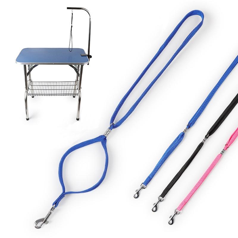 Dog Pet Cat Animal Grooming Loop Lock Clip Rope For Grooming Table Bracket Bath Adjustable Sling Harness Pet Accessories 52cm