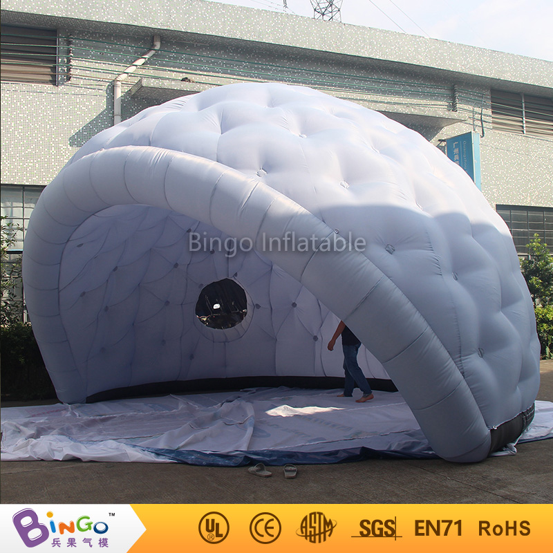 Free express outdoor lunar lounge inflatable camping tent dome tent golf marquee igloo tent with blower event toy outdoor double layer 10 14 persons camping holiday arbor tent sun canopy canopy tent