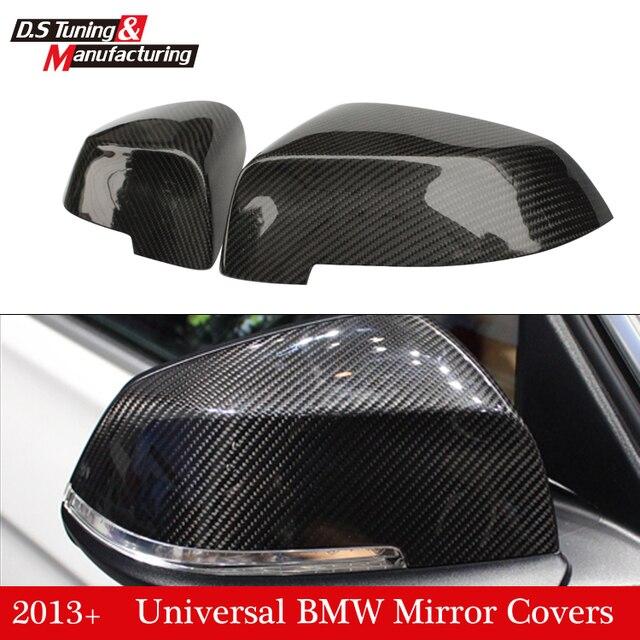 F10 F07 F06 F12 F13 F01 Carbon Fiber Side Door Mirror Cover for BMW 5 6 7 Series LCI 2013 - 2016