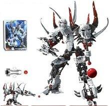 Decool 9768 331 pcs Super Hero Usine Compatible legoe BIONICLEEr Guerre Witch Doctor Robot briques de construction blocs ensembles Enfants jouets