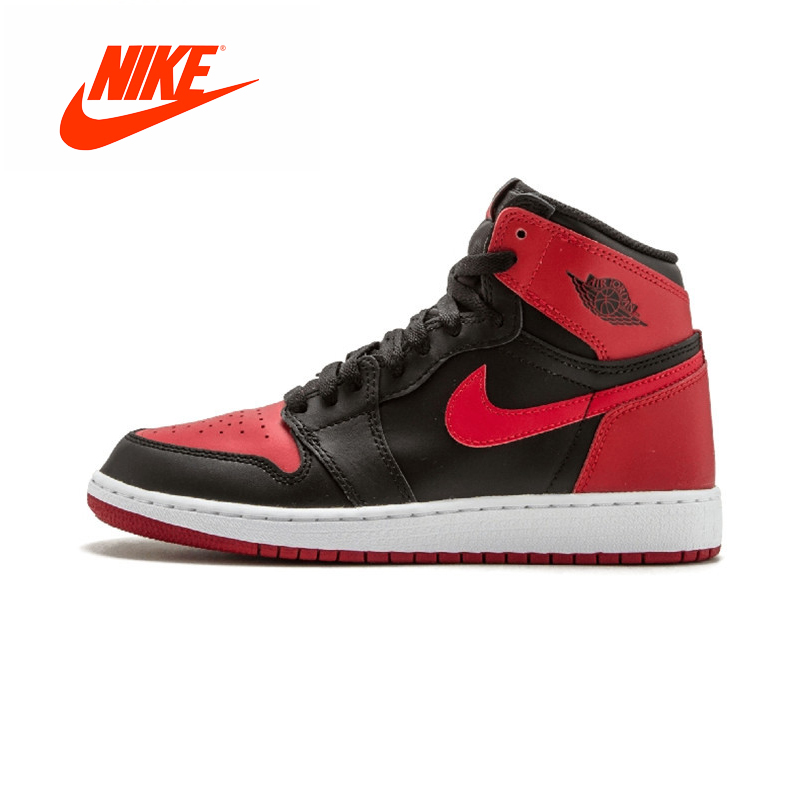 Original New Arrival Authentic Nike Air Jordan 1 OG Banned Breathable Men's Basketball Shoes Sports Comfortable Sneakers