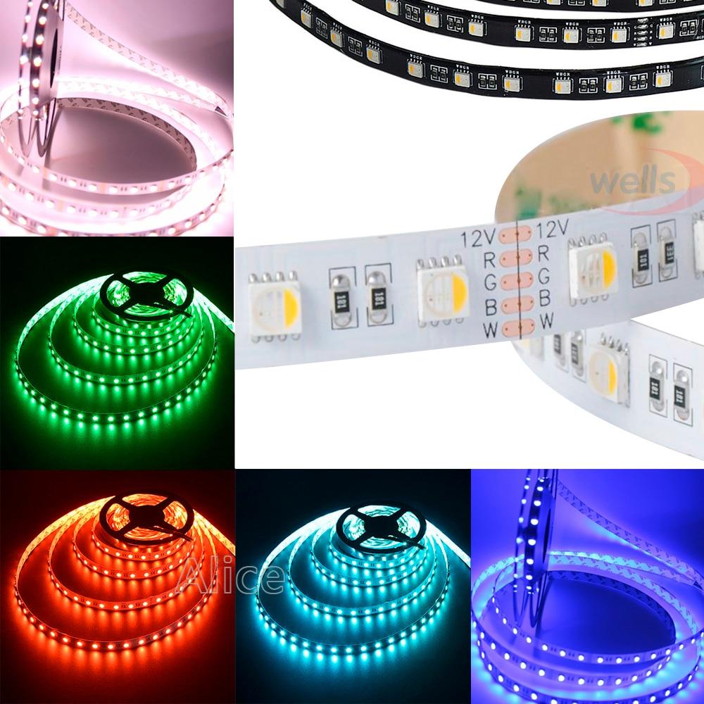 LED Strip 5050 DC12V 60LEDs//m 5m//lot Flexible LED Light RGB RGBW 5050 LED Strip