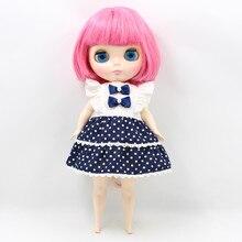 Vücut servet gün bebek dolgun vücut blythe doll uygun değişim vücut için dolgun bayan pembe kısa saç 2476