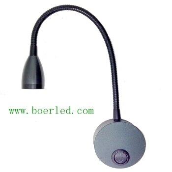 2 Вт LED 12 В 24 В 110 В 220 В Гусенек светодиодный изголовье бра