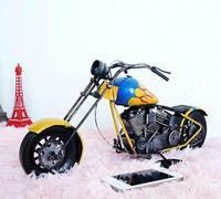 vintage Distressed antique retro classic Racing Moto motorbike hand made craft model for home coffee bar ornaments decoration
