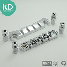 Un ensemble de 4 cordes de basse tune-o-matic Bridge & Stop Bar cordier Chrome pour guitare basse électrique(China)
