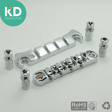 One Set of 4 String Bass Tune-o-Matic Bridge & Stop Bar Tailpiece Chrome for Electric Bass Guitar