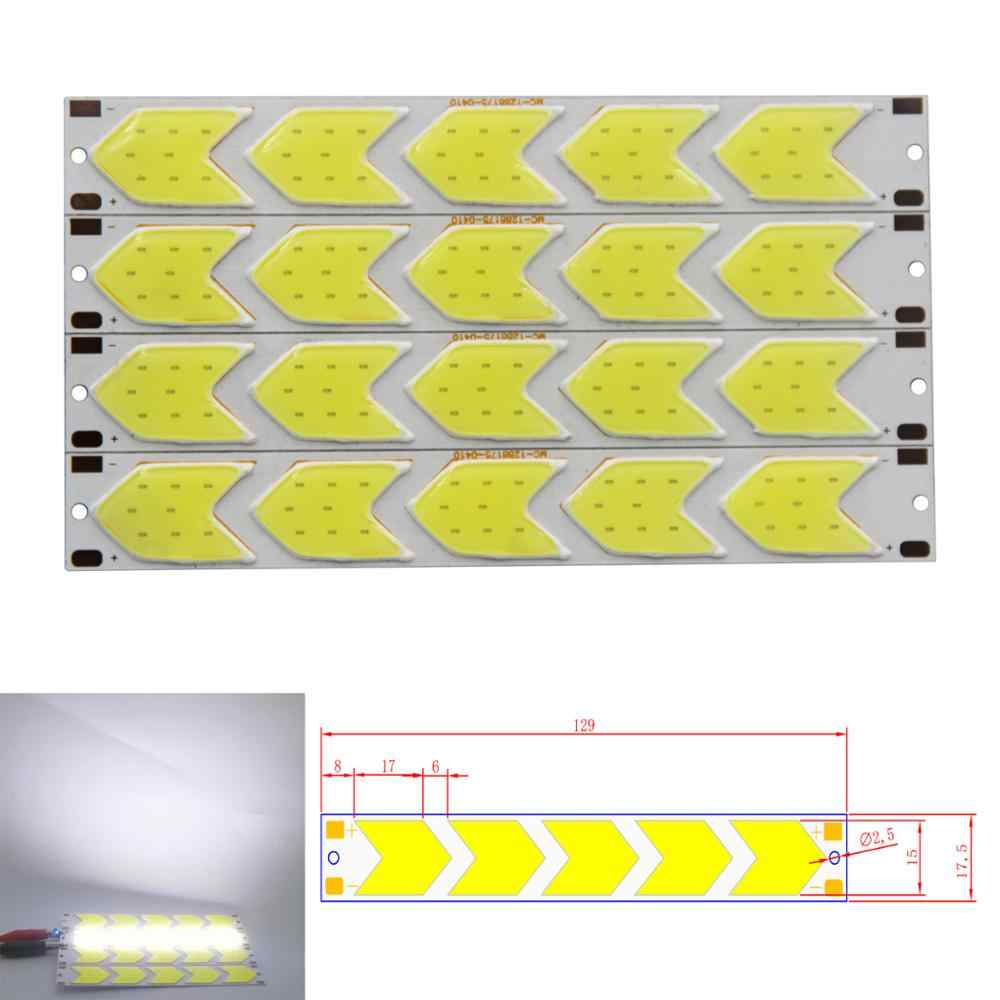 2018 new 12V DC arrow shape led cob strip light source for car daytime running light manufacturer cob led strip chip bulb tubles