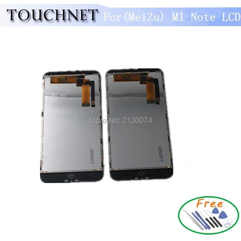 imágenes para Meizu M1 Nota LCD Pantalla 100% de Visualización Original del LCD + Digitalizador Montaje de la Pantalla táctil Para Meizu M1 Nota Teléfono Celular Negro Con marco