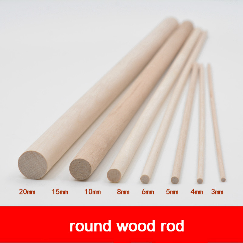 5pcs DIY handmade sand plate building model material white birch wood cylindrical log stick round rod original color in Model Building Kits from Toys Hobbies