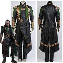 The Dark WorldMovie Loki Long Coat Halloween Cosplay Costume