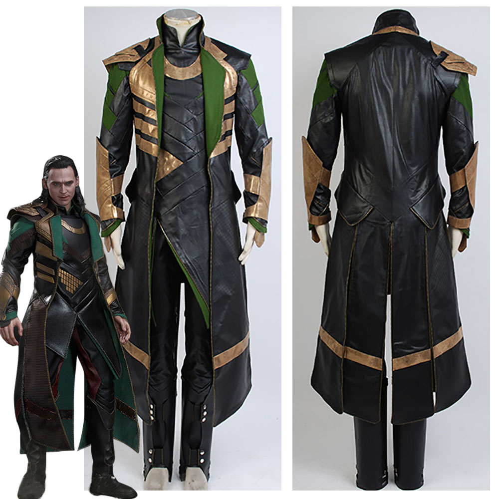 Thor 3 Le Costume Sombre Monde Loki Cosplay Costume Halloween Carnaval Costume Pour Hommes Femmes