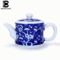 220ml Jingdezhen Vintage Blue and White Porcelain Plum Flower Painted Coffee Tea Pot Drinkware Making Black Tea Coffee Teapot