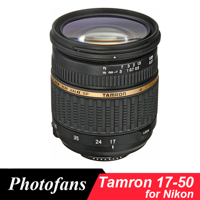 US $249 0 |Tamron 17 50 mm f/ 2 8 Lens 17 50mm lenses for Nikon D3400 D3200  D3300 D5300 D5200 D5500 D5600 D90 D60 D7100 D7200-in Camera Lens from