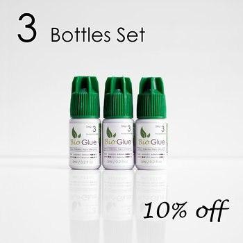 [3 Set] 5ml Mia Bio Hypoallergenic Eyelash Extension Glue Adhesive For Sensitive Skin 100% Odorless.