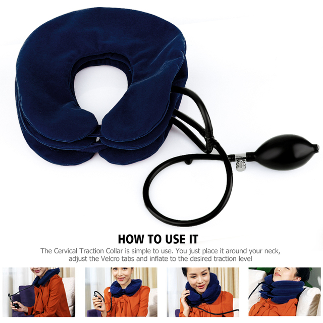 US Stock3 Layer Inflatable Air Cervical Neck Traction Device Soft Neck Collar for Pain Relief Neck Stretcher Pain Releave 3