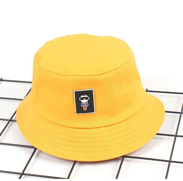 Kids Cartoon Man Bucket Hat for 2-6 years kids Bob Caps Hip Hop Gorros boys girls Beach Sun Fishing hat panana for children kids