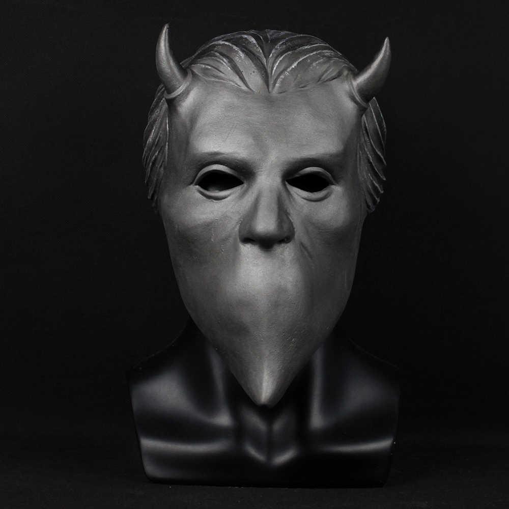 Ghost Nameless Ghouls Mask Cosplay Ghost B.C Heavy Metal Doom Hard Rock Roll Band Latex Helmet Masks Halloween Party Props