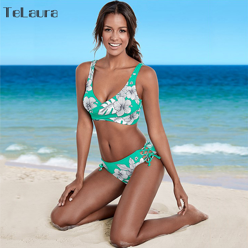 aee2e53f96051 ... 2018 New Sexy Bikini Women Swimwear Push Up Swimsuit Retro Bathing Suit  Biquinis Summer Beach Wear ...