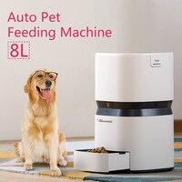 Горячие Авто кормления животных машина Smart подачи собака кошка Еда диспенсер 8L большой Ёмкость приложение Управление обучение кормления пл