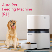 Hot Auto Pet Feeding Machine Smart Feeder Dog Cat Food Dispenser 8L Large Capacity APP Control Training Feeding Plan Set Useful