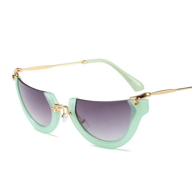 134192c19e SOLO TU Fashion Trend Semi-Rimless Women Men Sun Glasses Brand Designer  Personality Cosy Shades All Match Half Frame Sunglasses