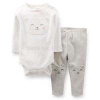 LL2-022,New Collection,  Baby Girls 2-Piece Bodysuit With Long-sleeve and Pants Set, , Cuteness, Free Shipping