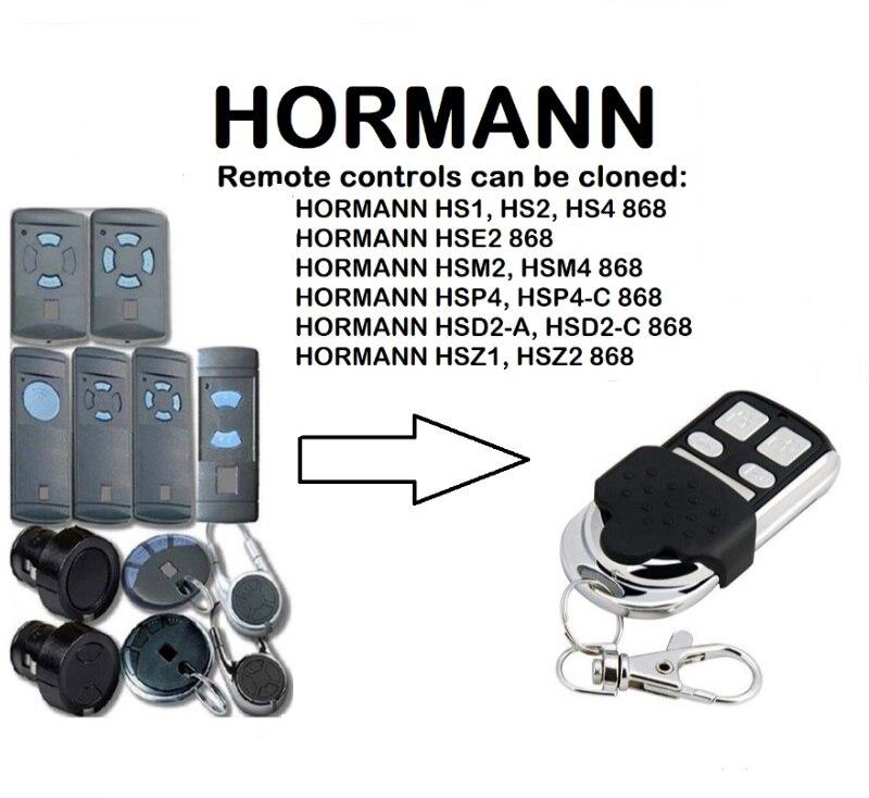 HORMANN HS, HSE, HSM, HSP, HSD, HSZ Remote Control Duplicator 868.35MHz.HORMANN HS, HSE, HSM, HSP, HSD, HSZ Remote Control Duplicator 868.35MHz.