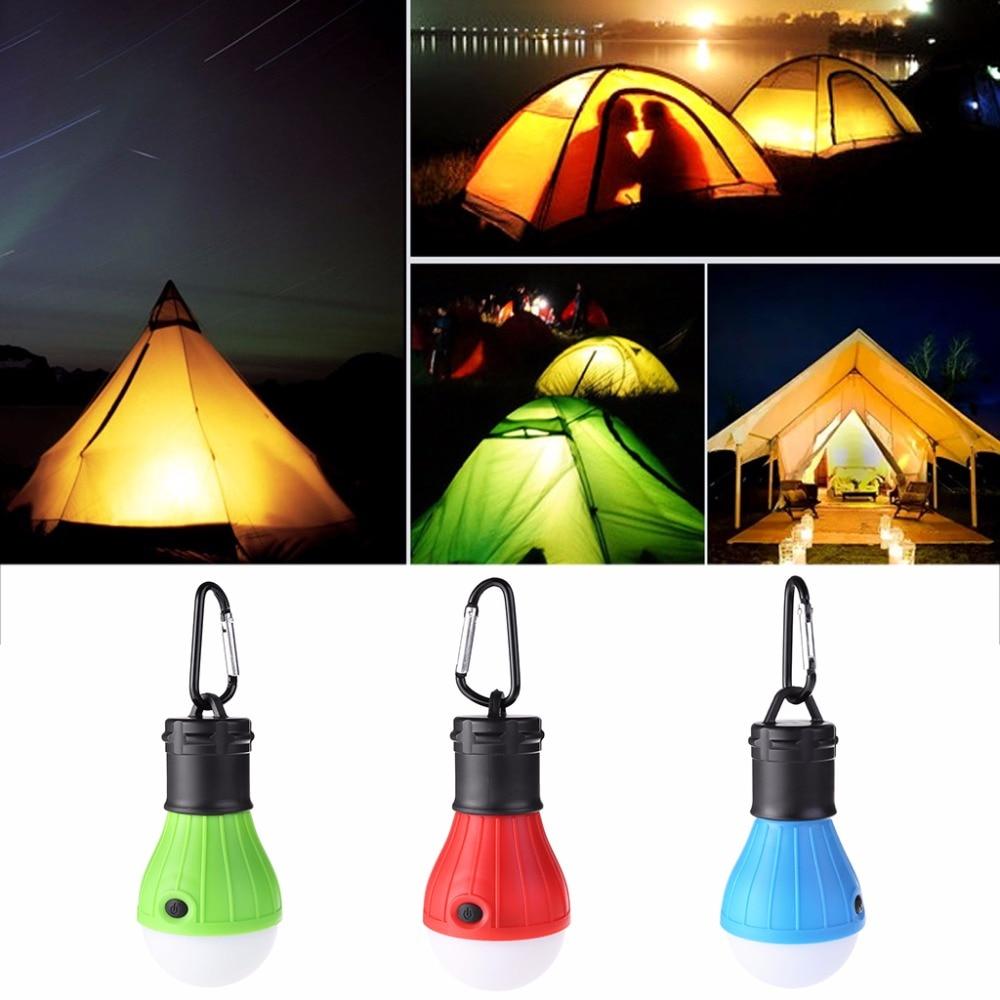 2 x Red Outdoor Hanging 3LED Camping Tent Light Bulb Fishing Lantern Night Lamp