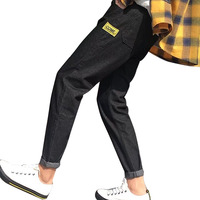 slim printing Men Jeans Multi pocket Stretch Destroyed Ripped Design Nine pants Fashion Korean Ankle Zipper Skinny Jeans For Man