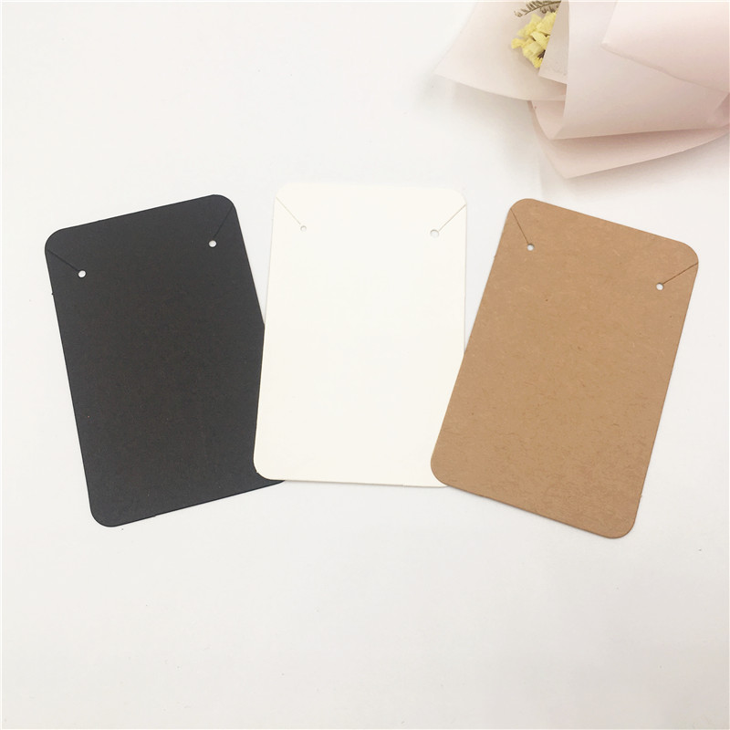 50pcs/Lot Kraft Cardboard Fashion Jewelry Packaging Card Necklace Bracelet Accessories Display Cards 8.8x5.6cm