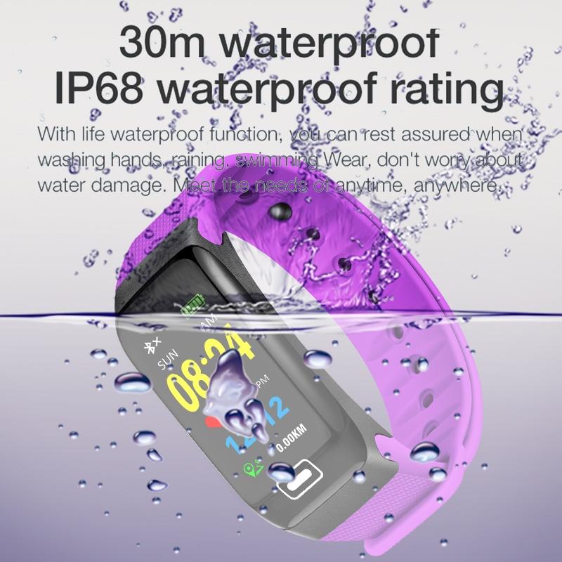 LIGE IP67Waterproof Bracelet Men Women Sport Wristband Pedometer Tracker Heart Rate Monitor Fitness Smartwatch Relogio masculino in Smart Wristbands from Consumer Electronics
