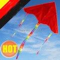 Бесплатная доставка высокое качество красный diy kite10pcs / lot пустой кайт с ручкой линия рипстоп ткань кайт колеса живописи кайт