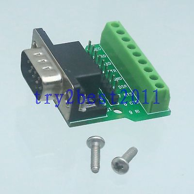 Adapter DB9 9pin plug pin D-SUB VGA DE9 signals Terminal Breakout Board 1 row материнская плата asus h81m r c si h81 socket 1150 2xddr3 2xsata3 1xpci e16x 2xusb3 0 d sub dvi vga glan matx