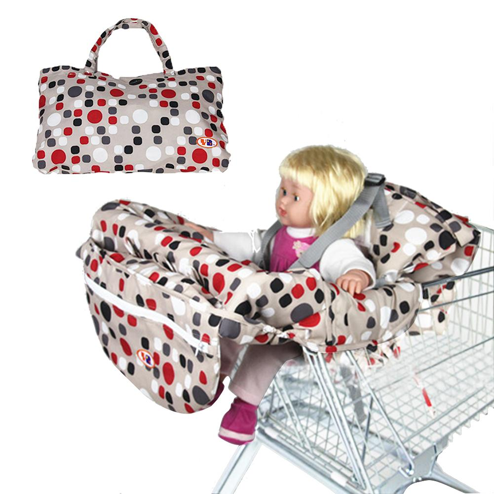 Printed Baby Child Supermarket Trolley Dining Chair Protection Antibacterial Safety Travel