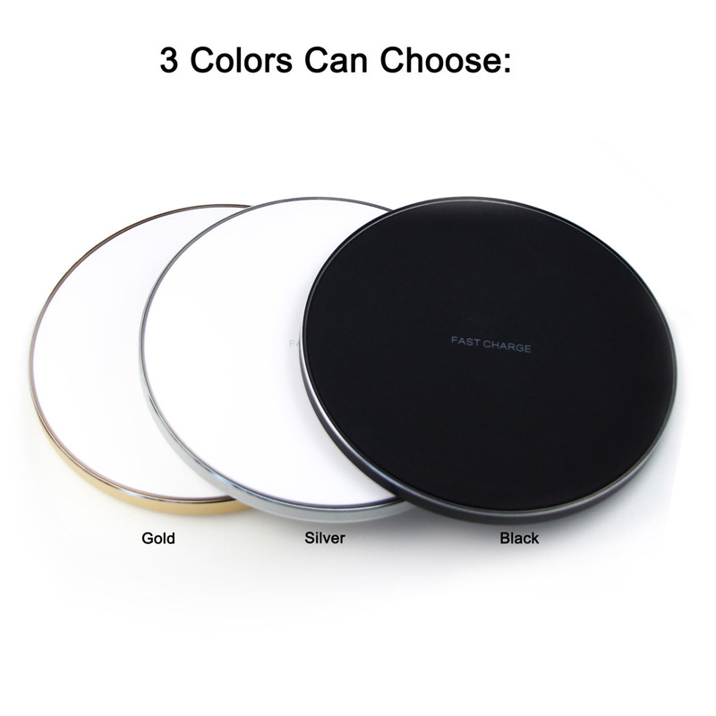 YILIZOMANA Qi Wireless Charger for iPhoneX XS XS MAX 8 8 Plus For Samsung Note 8 Galaxy S9 8 S8 9 Plus S7 S9 S6 Edge Charger in Mobile Phone Chargers from Cellphones Telecommunications