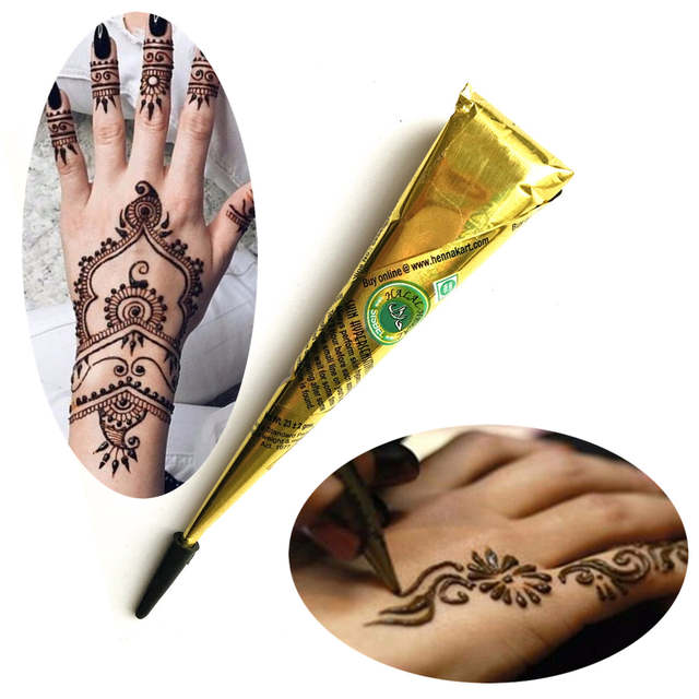 Online Shop Hot Brown Ink Color Indian Henna Tattoo Paste Cone Women