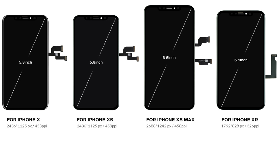 For iphone X XS Max XR LCD Display For Tianma OLED OEM Mobile Phone Screen Digitizer For iphone LCD Assembly Black With Tools