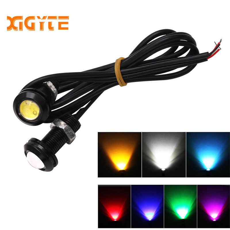 Car styling 1pcs 18MM Car Led Eagle Eye DRL Daytime Running Lights Source Backup Reversing Parking Signal Lamps Automobiles